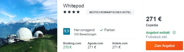 2 Tage Whitepod