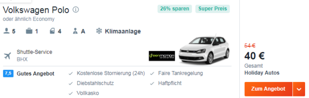 4 Tage Fly & Drive