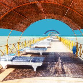 Ägypten Hurghada Chaise Lounge