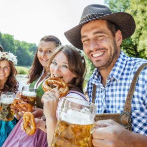 Deutschland Bayer Bier Freunde