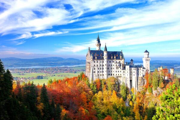 Deutschland Bayern Schloss Neuschwanstein