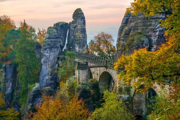 Deutschland Sächsische Schweiz Bastei-bruecke