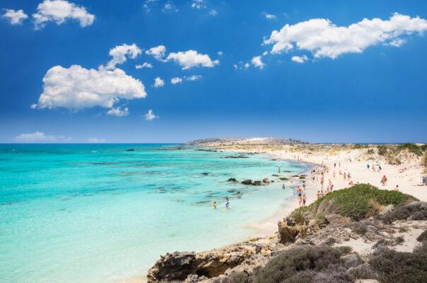 Griechenland Kreta Elafonissi Lagoon