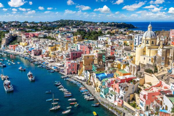 Italien Procida Island Stadt