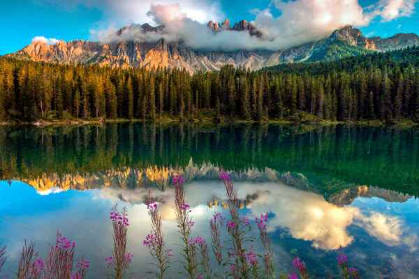 Italien Südtirol Karersee Latemar