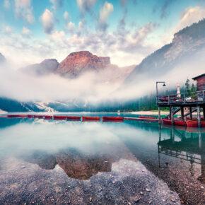 Italien Südtirol Pragser Wildsee Dolomiten