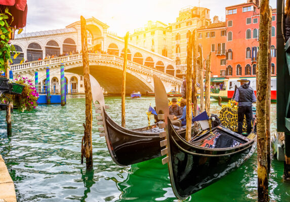 Italien Venedig Kanal Gondel