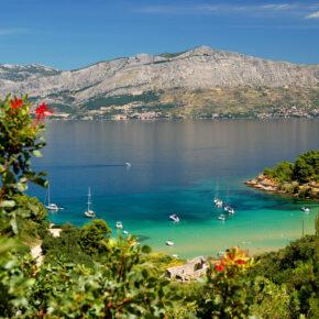 Kroatien Brac Lovrecina Strand