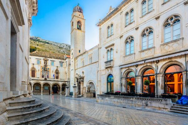 Kroatien Dubrovnik Altstadt Straße