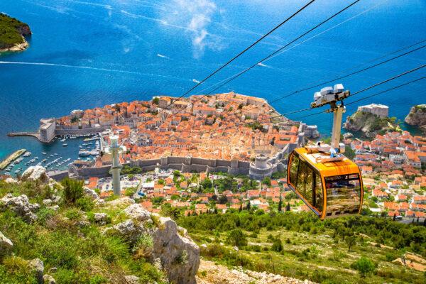 Kroatien Dubrovnik Gondel