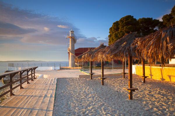 Kroatien Zadar Strand Leuchtturm