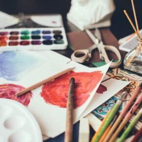 Kunst Farben Pinsel malen