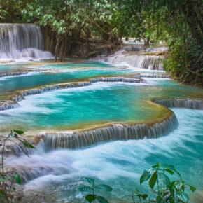 Laos Luang Prabang Province Kuang Si Wasserfall