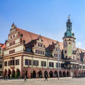 Leipzig Altes Rathaus und Markt