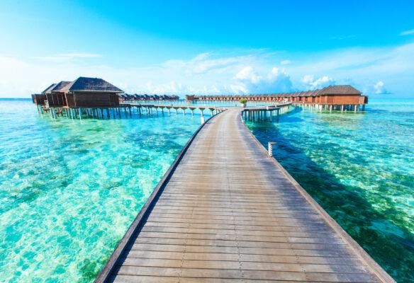 Malediven Wasser Bungalow
