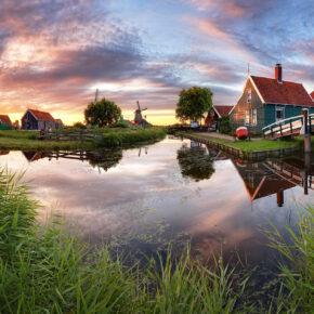 Urlaub im Grünen: 14 Tage im Wasser-Ferienhaus in den Niederlanden ab 116€