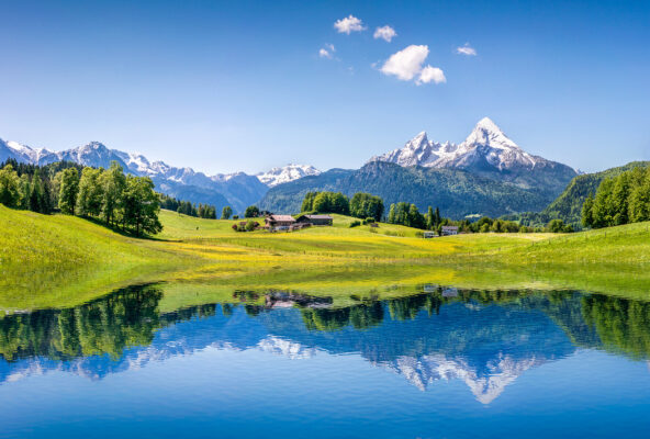 Österreich Alpen Lake