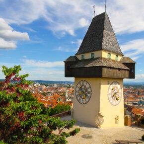 Österreich Graz Uhrturm