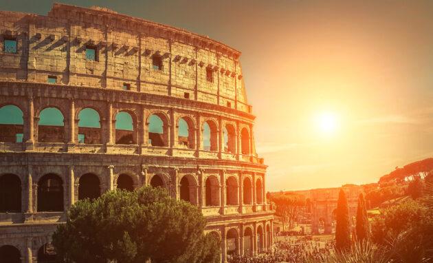 Rom Colloseum Sunset