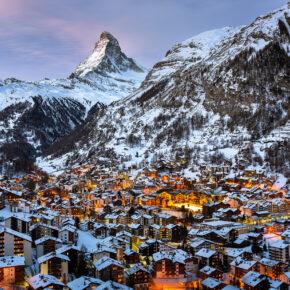 Skifahren in der Schweiz: 2 Tage Zermatt im 3* Hotel für 52€