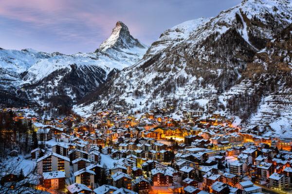 Schweiz Zermatt Matterhorn Dorf