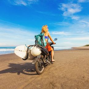 Sri Lanka Motorrad Surfbrett