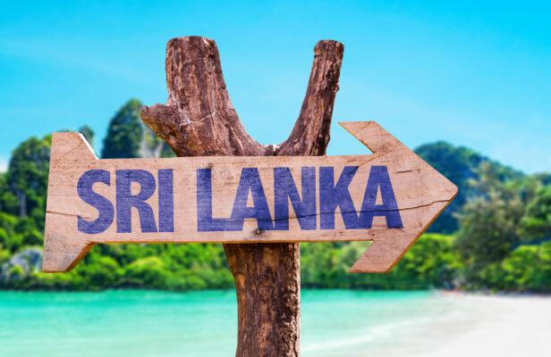 Sri Lanka Strand Sign