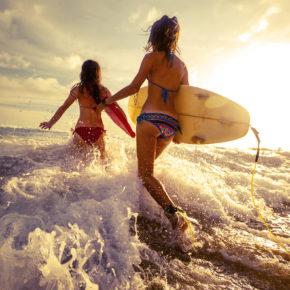 Sri Lanka zwei Surfer