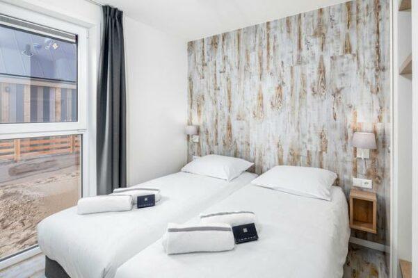 Strandhaus Nieuwvliet Bad Schlafzimmer
