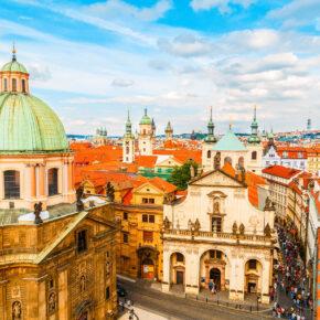 Tschechien Prag Altstadt von oben