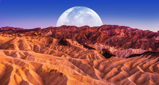 USA Death Valley Mond