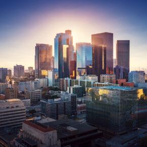 USA Los Angeles Sonnenuntergang
