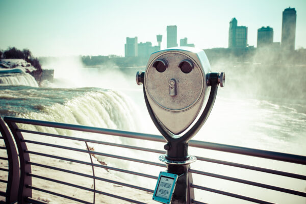 USA Niagarafälle Winter Fernglas