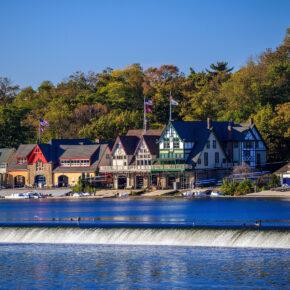 USA Philadelphia Boathouse Row