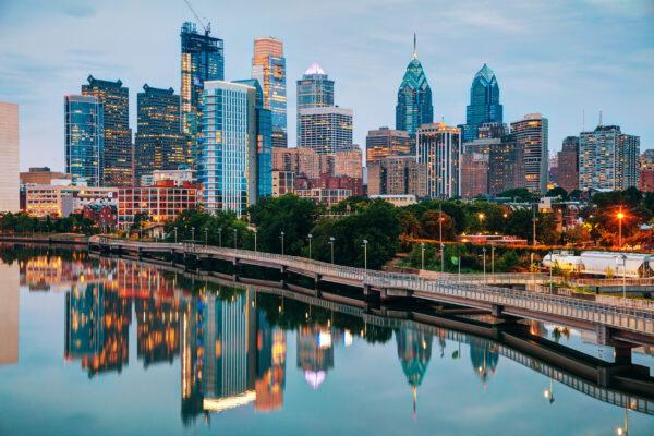 USA Philadelphia Skyline