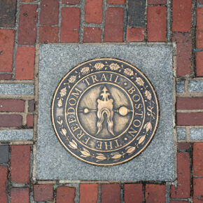 USA Boston Markers of The Freedom Trail