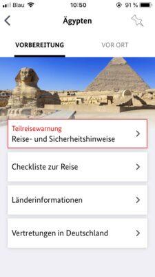 Sicher Reisen App