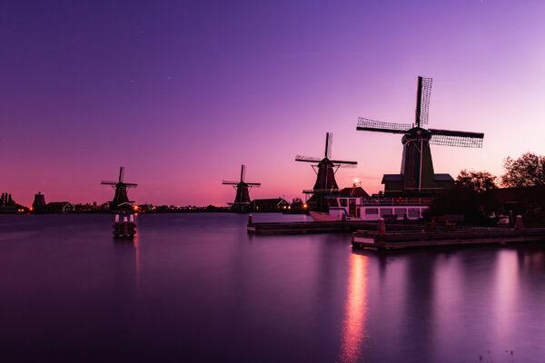 Amsterdam Windmühlen Sunrise