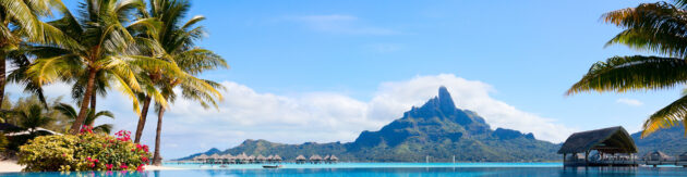 Bora Bora Otemanu Ausblick Panorama