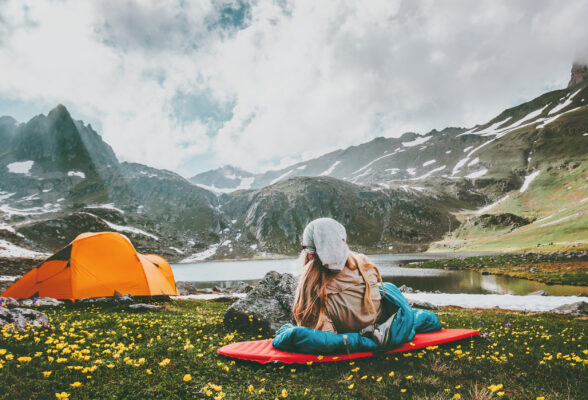 Camping Zelt Berge