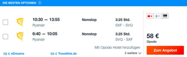 Flug Berlin Sevilla
