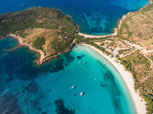 Frankreich Korsika Rondinara Beach-ueberblick