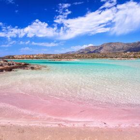 Griechenland Elafonissi Strand Pink