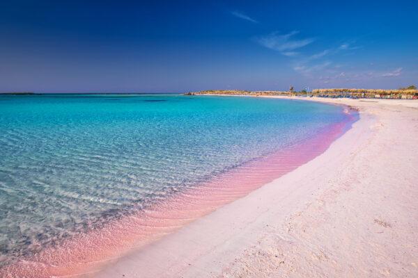 Griechenland Kreta Elafonissi Pinker Strand
