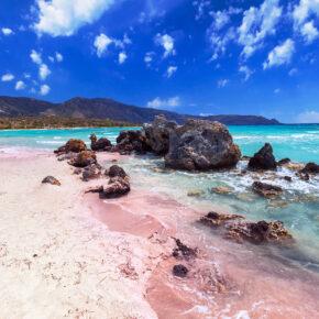 Griechenland Kreta Elafonissi Strand Felsen