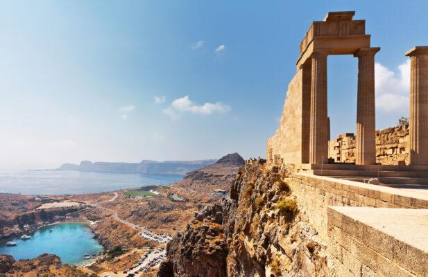 Griechenland Rhodos Acropolis Lindos