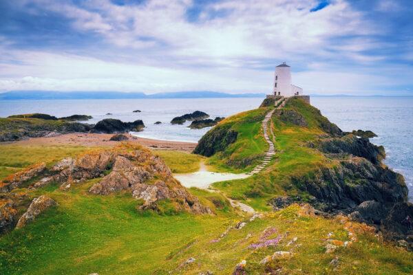 Großbritannien Wales Anglesey Leuchtturm