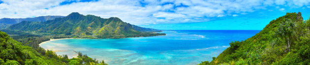 Hawaii Lion Rock Panorama