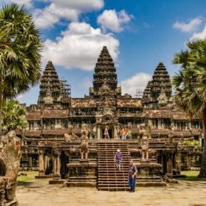 Kambodscha Angkor Wat vorne