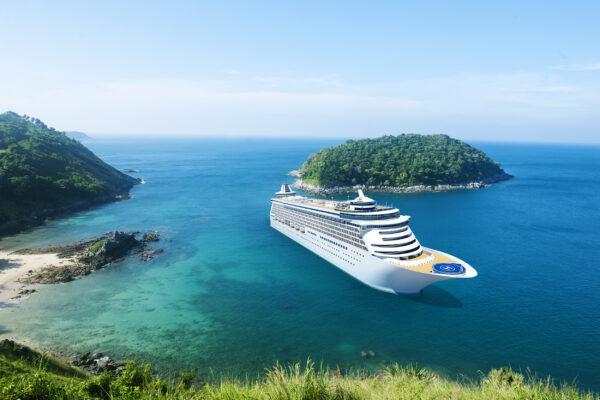 Kreuzfahrt Schiff Insel